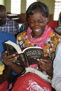African woman with Bible