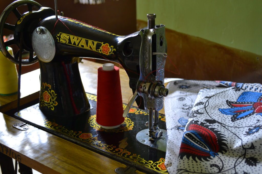 Foot-powered sewing machine